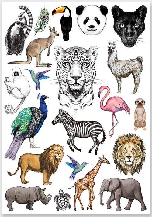 tattoo-exotic-animals