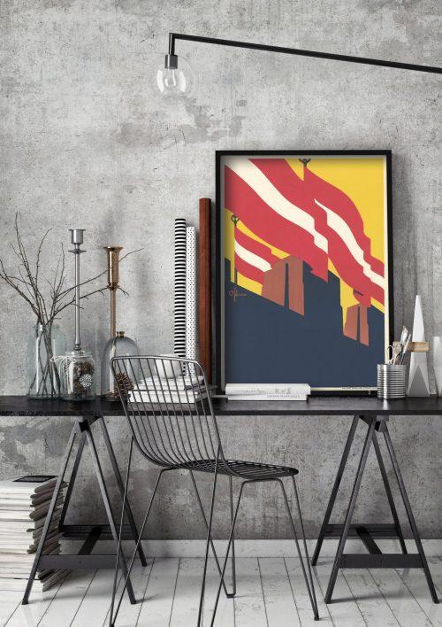 plakats-latvijas-karogs
